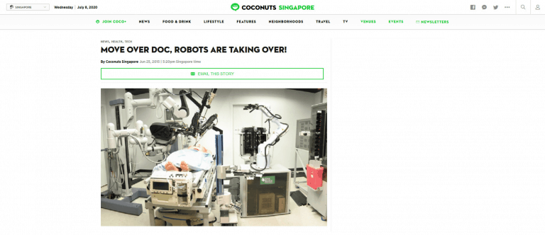 COCONUTS: MOVE OVER DOC, ROBOTS ARE TAKING OVER!
